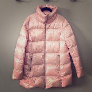 Lands End blush pink puffer coat